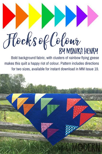 Make Modern Issue 19 Flocks of Colour Quilt Monika Henry