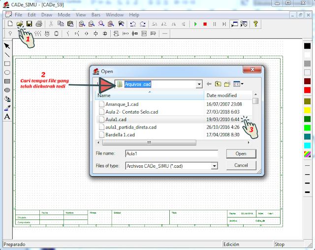 Gambar 2 : Cara Membuka File Example Cade Simu