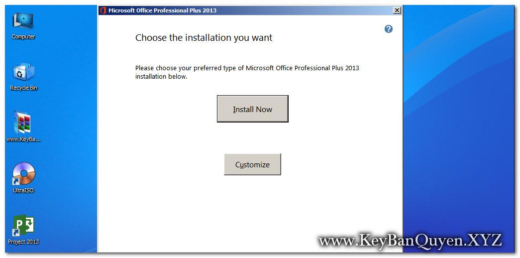 Hướng dẫn cài đặt Microsoft Office Pro Plus 2013 bản quyền