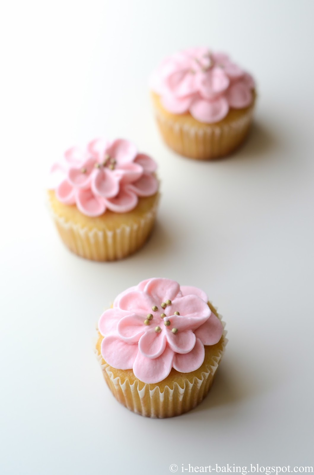 Pink Flower Cupcakes For Babys First Birthday