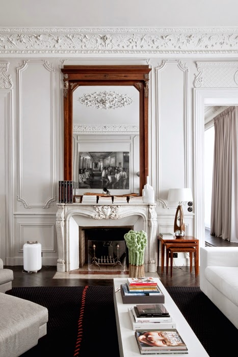 interior decorator writes about a classic and modern parisian apartment