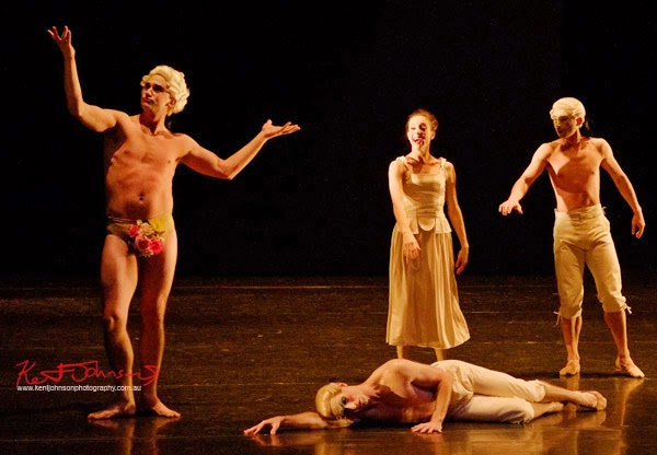 The man revealed, nude, no flowers! Sechs Tänze,The Australian Ballet - Preview & Dress Rehearsal - Photographed by Kent Johnson.