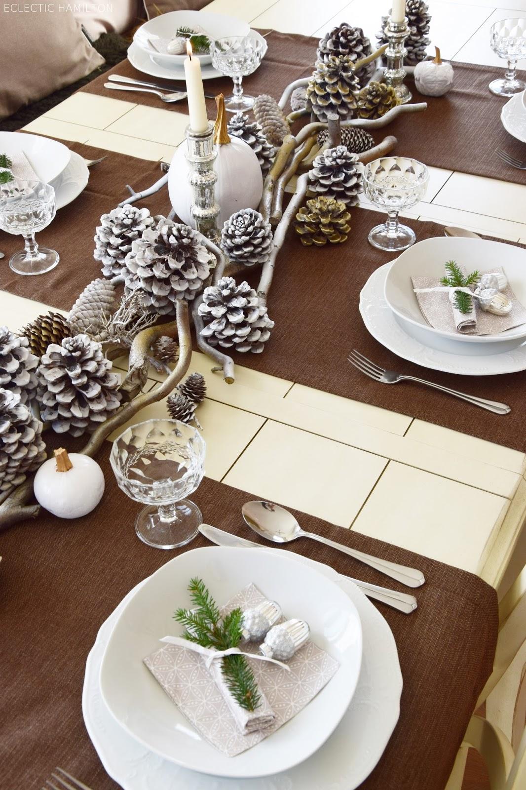 Winterlich Festliche Tischdeko Mit Naturmaterialien Eclectic Hamilton
