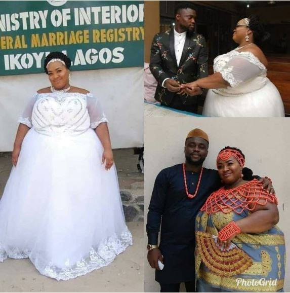 See The Wedding Pictures Of Plus-sized Lagos Woman That Has Got People Talking