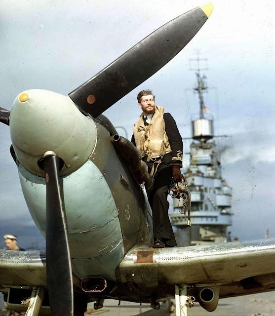 PRU Seafire pilot color photos of World War II worldwartwo.filminspector.com