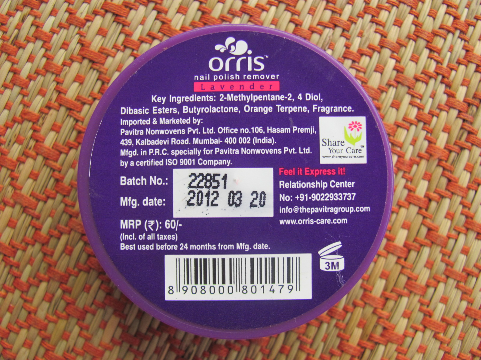Orris Nail Polish Remover Pads Review