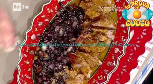 Stinco di vitello al forno con radicchio ricetta Moroni da Prova del Cuoco