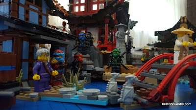 LEGO Ninjago Temple Of Airjitzu set 70751 full model close up