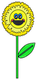 free for you clipart image of a yellow smily flower, smiling flower, smiling flower clipart image