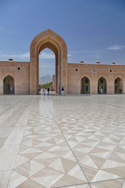 Sicht, Sichtachse, Tor, Marmorboden, Sultan, Qabus, Moschee, Muscat, Oman