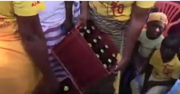 See church in Congo where they get drunk (including little children) to cast out demons