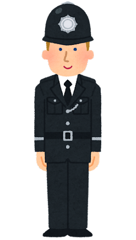 イギリスの警察官のイラスト(礼装・男性)
