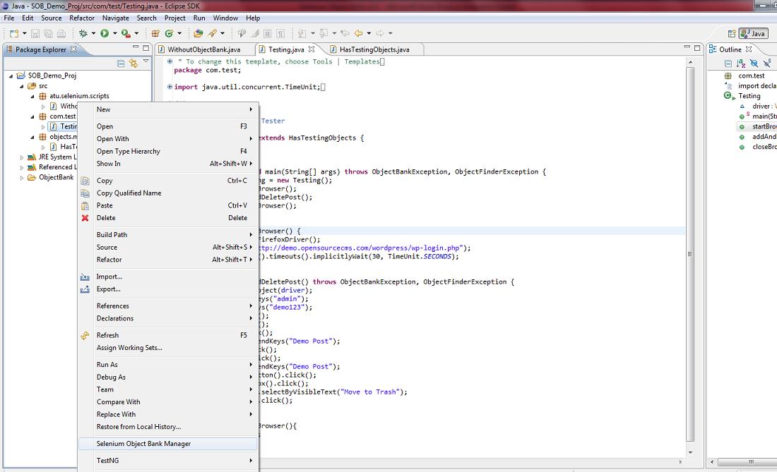 SudhakarMangi-Automation ProfessionalBLOG: Selenium Object