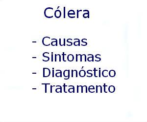 Cólera causas sintomas diagnóstico tratamento prevenção riscos complicações