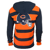 Chicago Bears Official NFL Cotton Rugby Hoody by Klew - Backside - nfl jerseys for sale