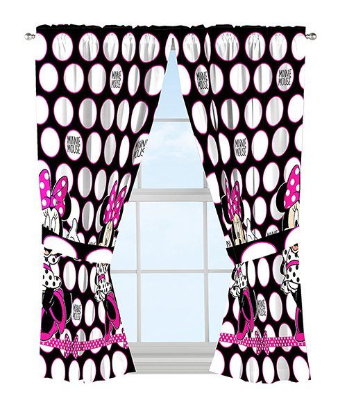 Disney Minnie Mouse Dots Curtain Panel