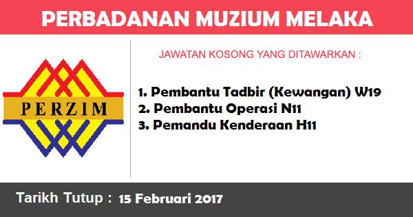 Jawatan Kosong di Perbadanan Muzium Melaka