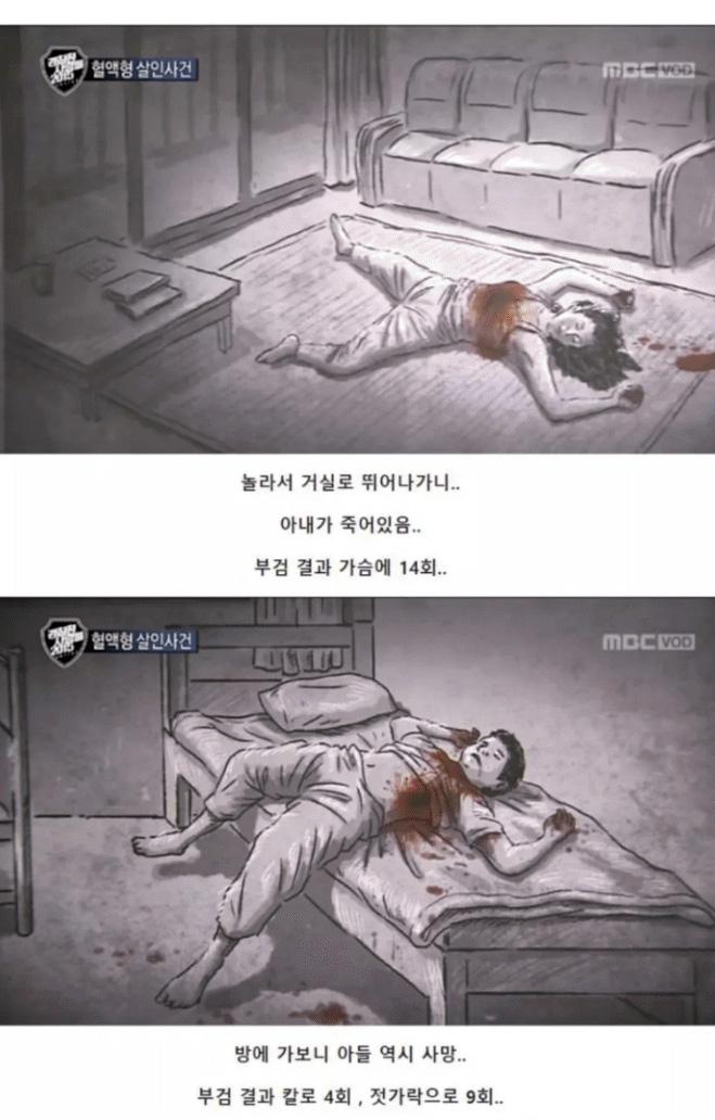 충격적인 혈액형 살인사건