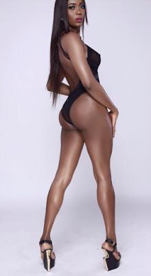 Naked woman models having sex