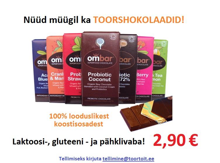 59e5cc0281f Toorshokolaadide valik pildil vasakult paremale: Acai ja mustikatega  antioksüdantiderikas shokolaad. Jõhvika ja mandariniga antioksüdantiderikas  shokolaad