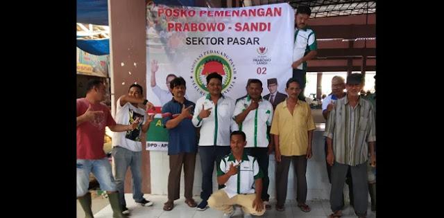 Pedagang Pasar Seutui Deklarasi Dukungan Prabowo-Sandi