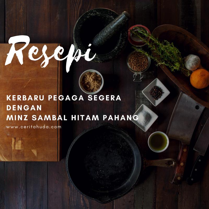 Resepi Kerabu Pegaga Segera dengan Minz Sambal Hitam Pahang