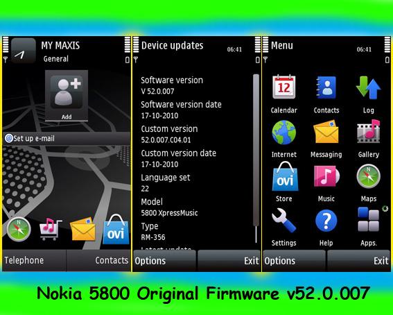 nokia 5800 firmware v52.0.007 download
