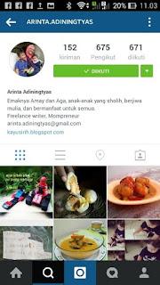 instagram arinta adiningtyas-kayusirih
