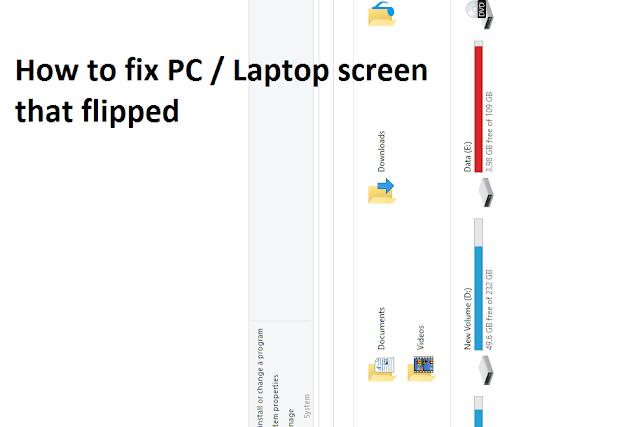 Cara memperbaiki layar laptop komputer terbalik