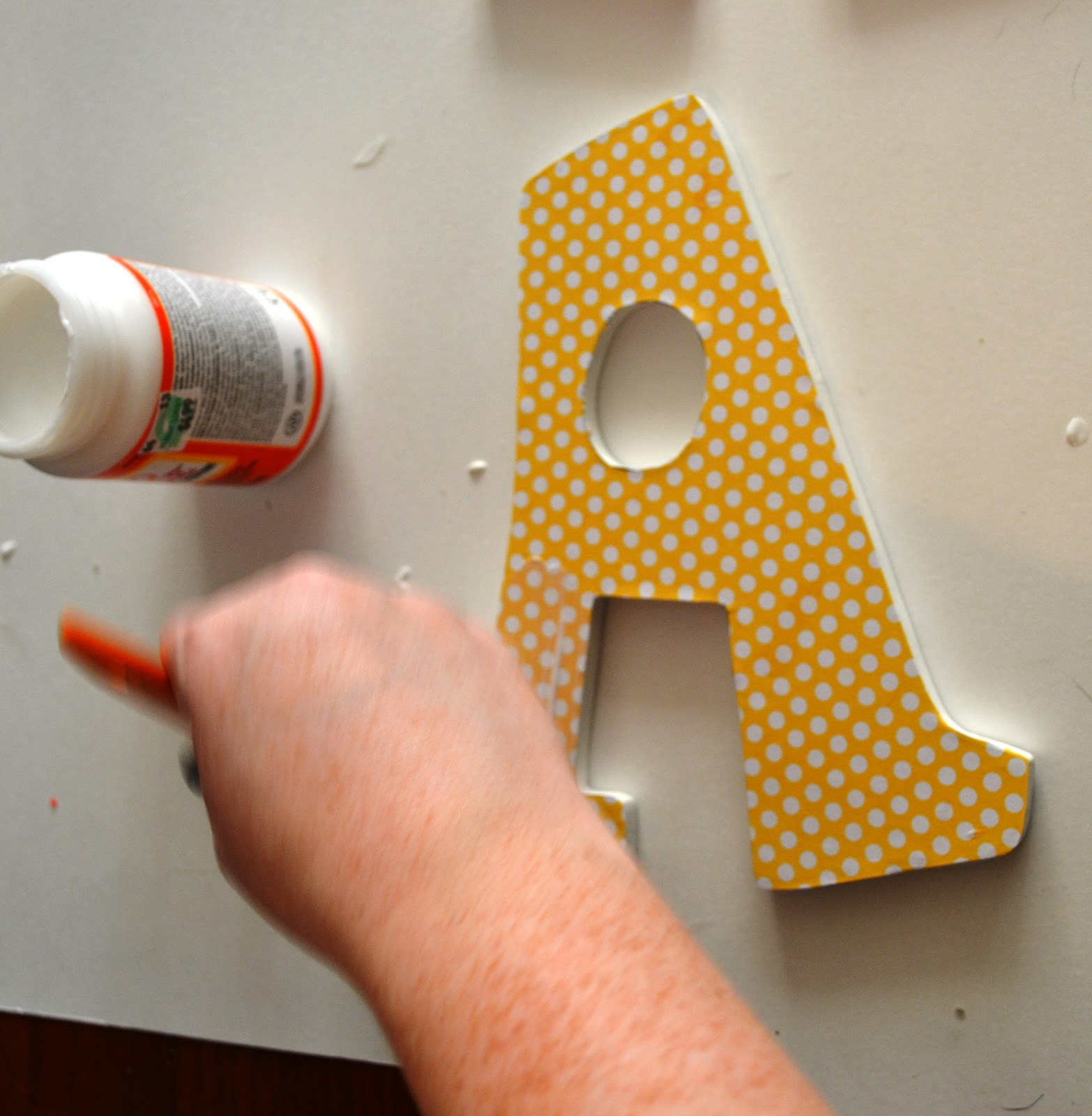 How to mod podge wooden letters This Girl s Life Blog