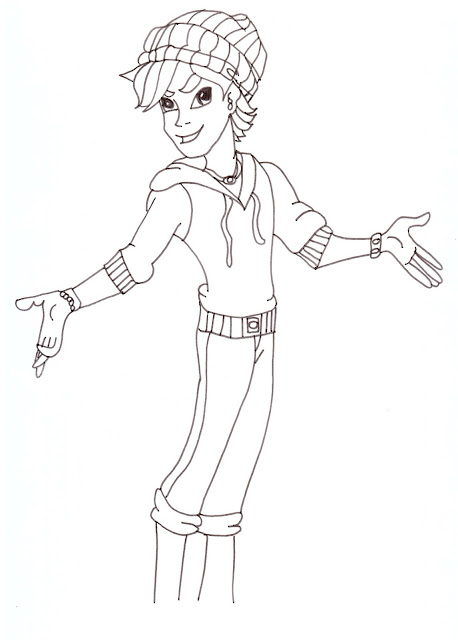 Free Printable Monster High Coloring Pages: Invisi Billy
