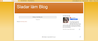 Sladar Gai phát triển Blog