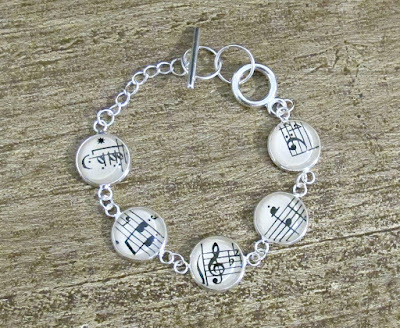 image music bracelet sheet musician musical handmade two cheeky monkeys etsy