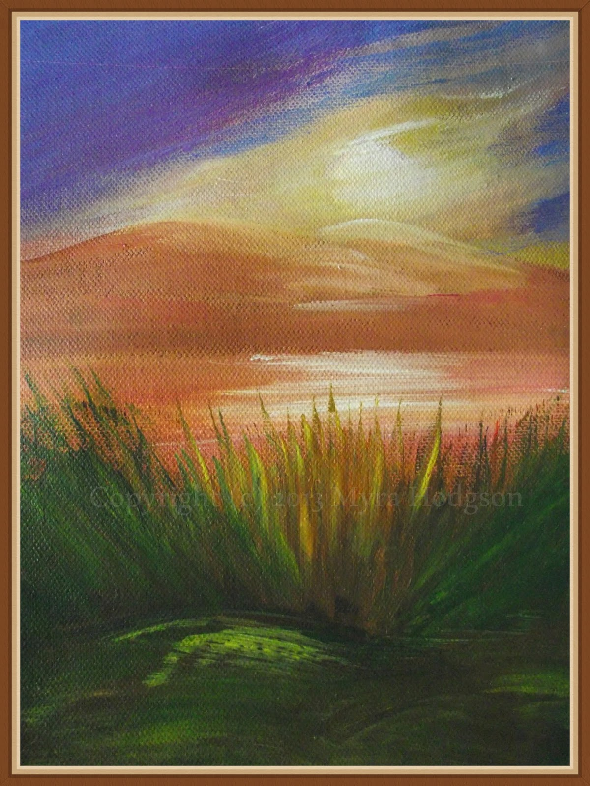 Painting The Landscape In Acrylics And Oil Pastels