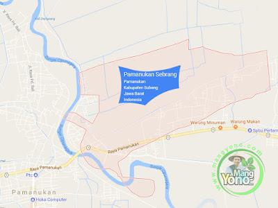 Peta Desa Pamanukan Sebrang, Kecamatan Pamanukan