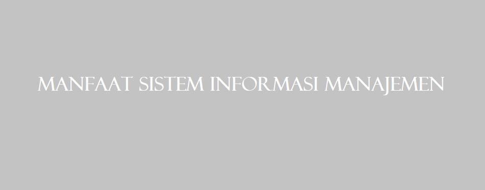 Manfaat Sistem Informasi Manajemen Dalam Ilmu Marketing