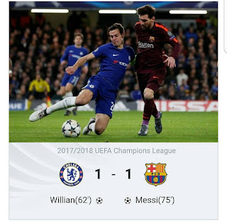 Messi Scores First Time Against Chelsea