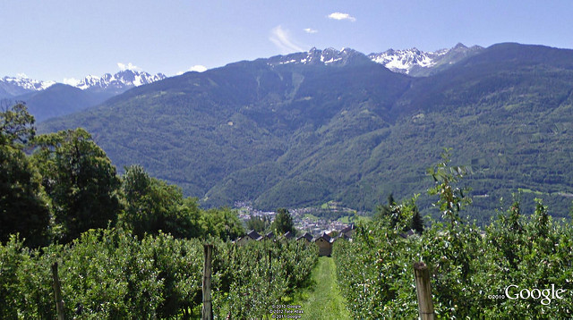 Wine region of Valtellina in Lombardy