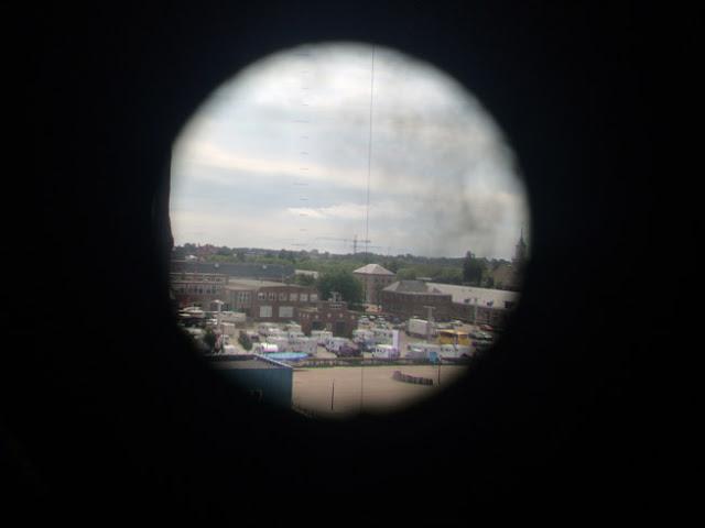 vista desde el periscopio de un submarino. Den Helder. caravaneros blog autocaravanas
