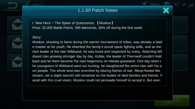 Mobile Legends Patch Notes 1.1.60