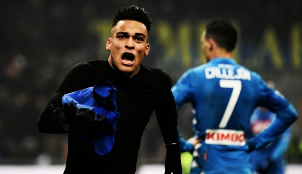 Inter-Napoli decisa da Lautaro al 91', espulsi Koulibaly e Insigne.