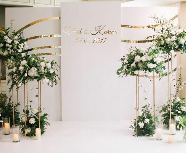 sewa backdrop lamaran pernikahan