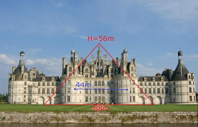 Le château de Chambord et la grande pyramide.