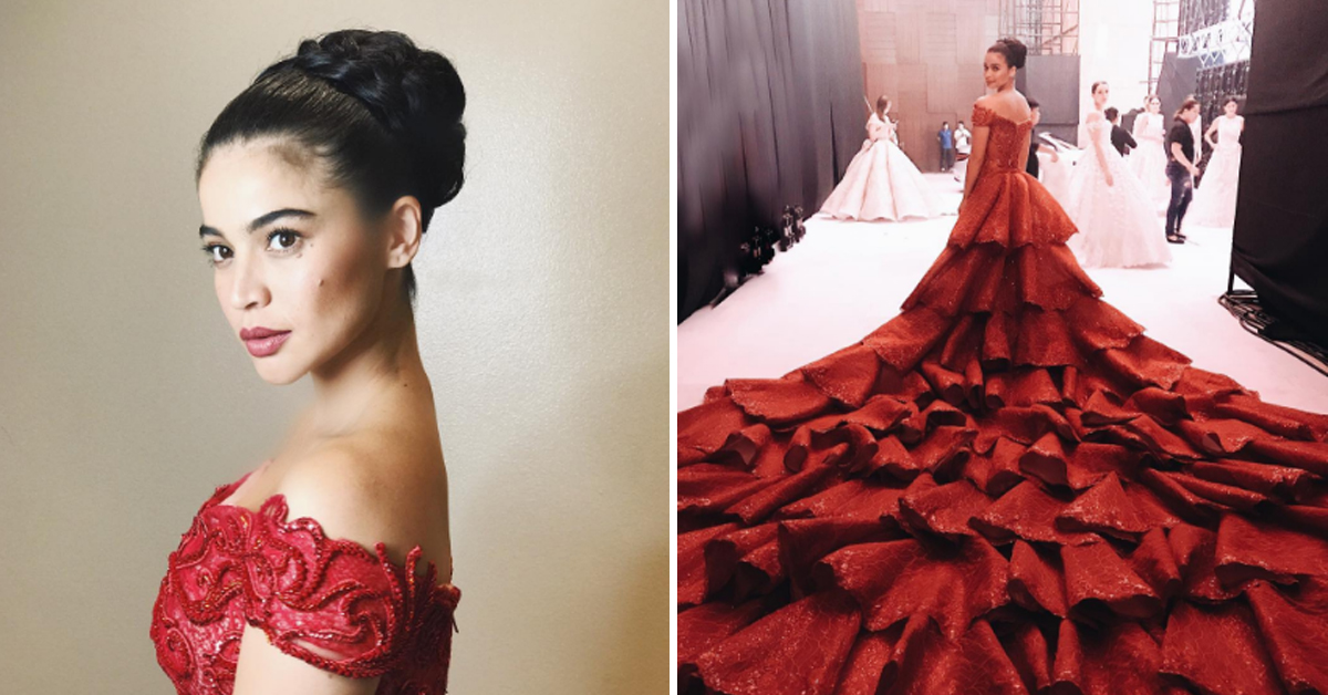 Anne Curtis And Her Huge Red Gown - Kikay Department
