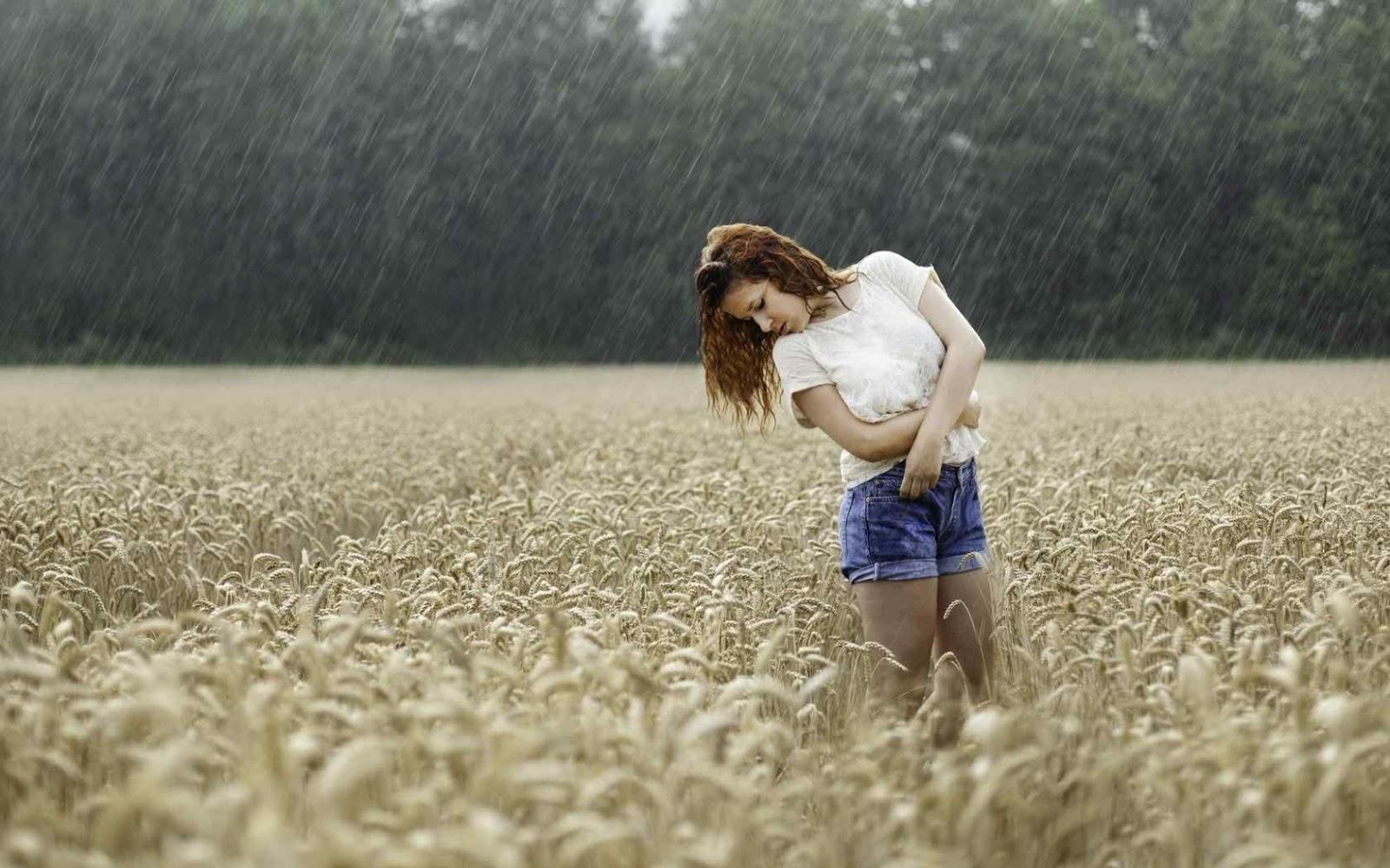 girl dancing on rain profile dp for whatsapp