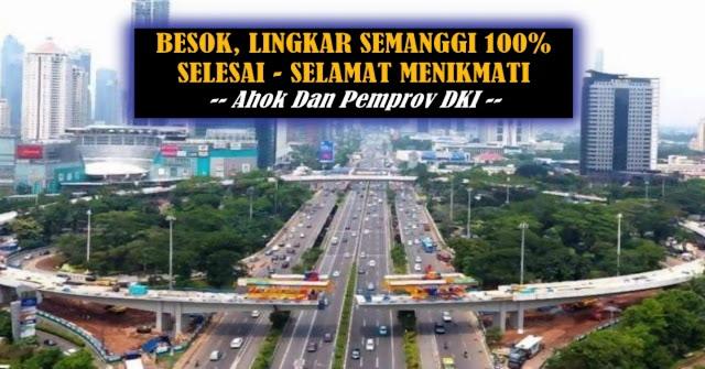 LIngkar Simpang Susun Semanggi Besok 100% Rampung, Ikon Baru Jakarta !!