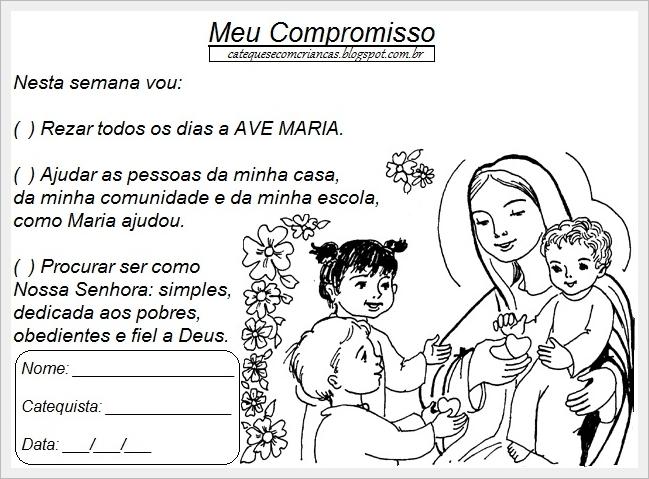 Nossa Senhora Aparecida Mãe Das Crianças: Paróquia Senhor Deus Menino: Atividades Para Catequese
