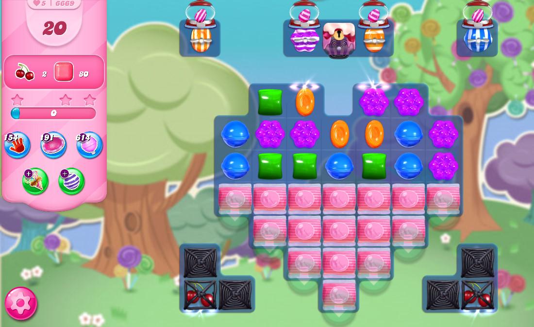 Candy Crush Saga level 6669
