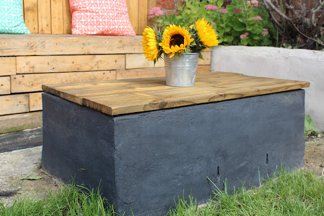DIY fire pit with table top