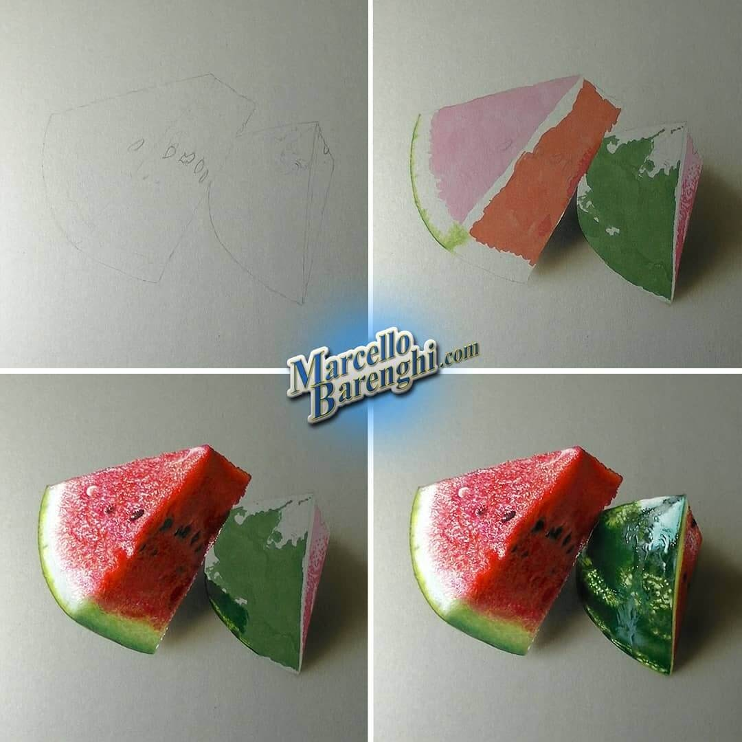 13-Watermelon-Marcello-Barenghi-Drawings-that-Mirror-Reality-www-designstack-co